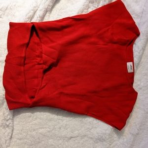 Never been worn red Wilfred shirt